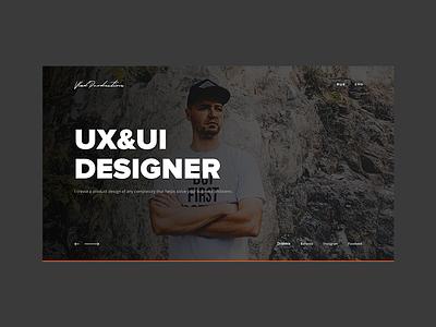 Personal Website Redesign clean design portfolio business corporate layout ux ui webdesign web