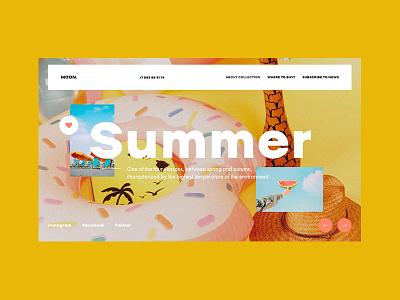 Moon design concept online clean layout ux ui webdesign web