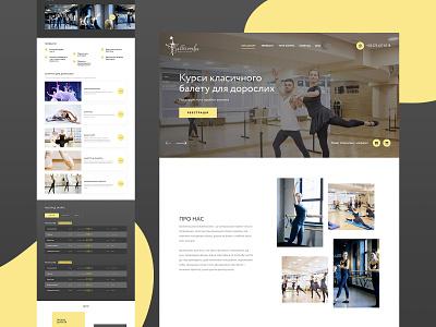 Ballerosha / Landing Page page landingpage landing business corporate flat layout ux ui webdesign web