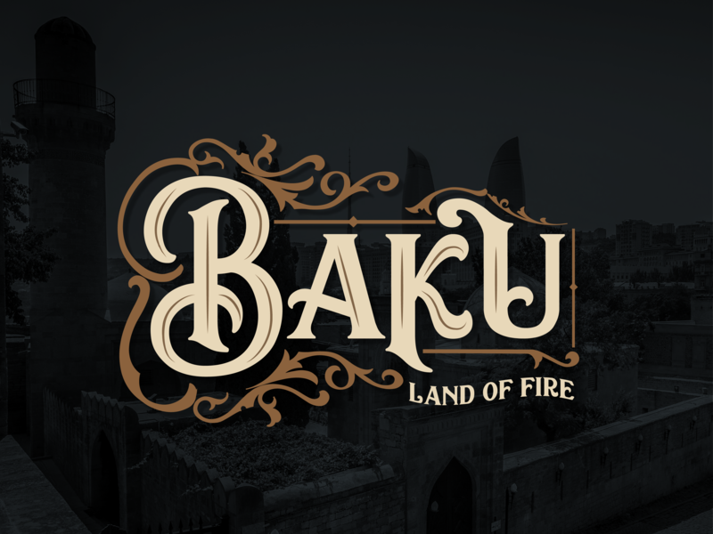 Baku typography handtype dribbble typographyinspired oldcity art vintage handlettering font design font calligraphy baku azerbaijan typeface lettering photography illustration vector typography