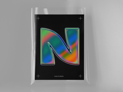 N Symbol vector art mark poster design poster graphic design kavela design design