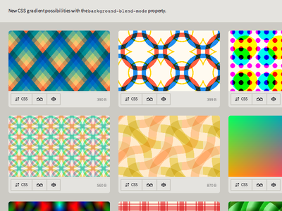 New CSS gradient possibilities with background-blend-mode