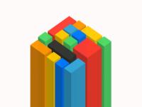3D CSS blocks