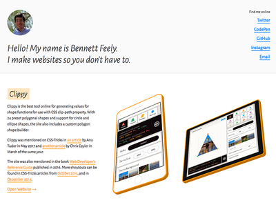 Bennett Feely / Tags / css   Dribbble
