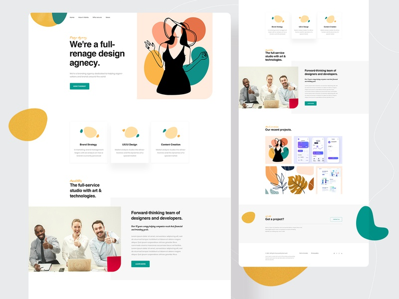 Agency Landing Page website design uidesign uiux modern agency home page design studio design agency digital agency landing page