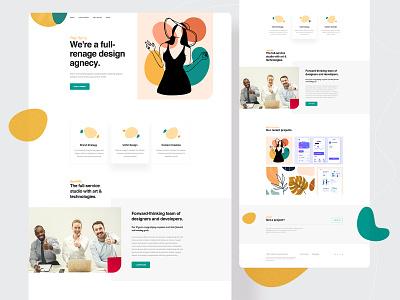 Agency Landing Page website design uidesign uiux modern agency home page design studio design agency digital agency landing page
