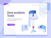 Isometric data illustration