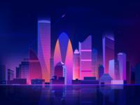 Futuristic Dhaka City ( Illustration)