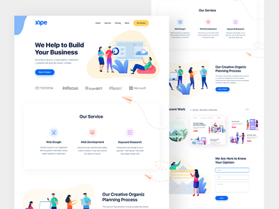 Digital Agency Home Page Design