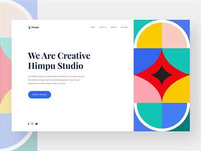Landing Page - Himpu nomsedit user interface design uidesign digital agency creative agency pattern design pattern landing page design