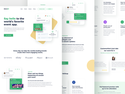 Event App Landing Page website design clean website design noms edit home page design uidesign event landing page landing page design app landing page event website event app