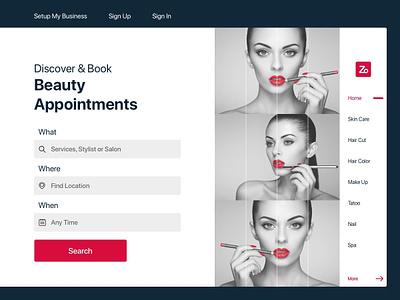 Beauty womans makeup flat design website design health beauty