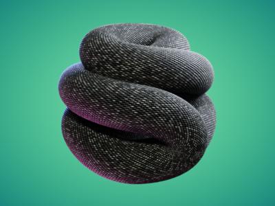 REPITLE - #nodevember 06 procedural procedual organic simulation cgi animation blender reptile reptiles 3d green slither skin snake