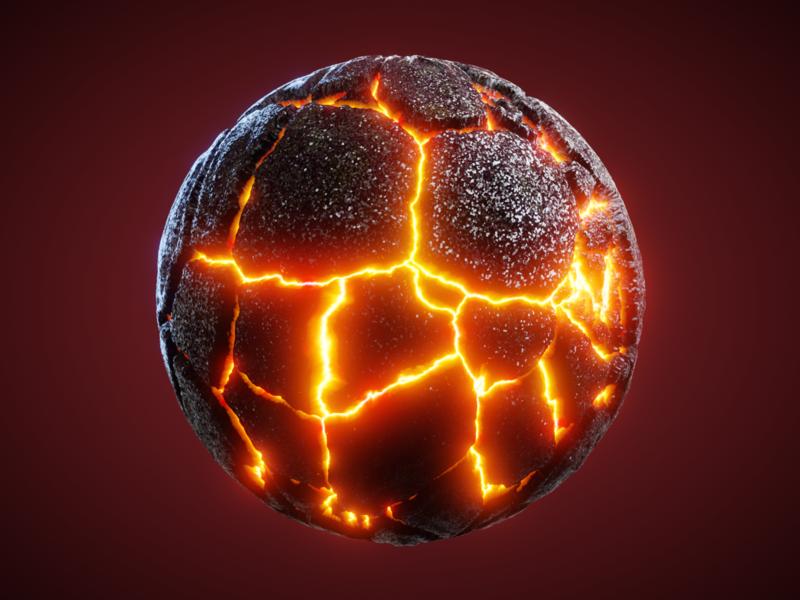 LAVA - #nodevember 01 nodevember magma lava blender3d blender render shader procedural