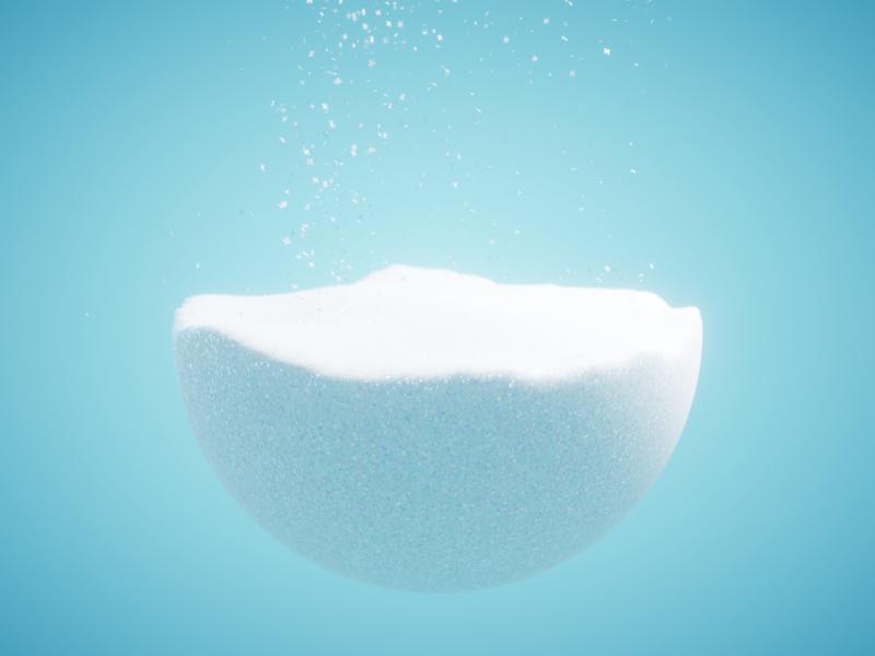 SNOW - #nodevember 05 cgi 3d procedural simulation illustration organic animation blender