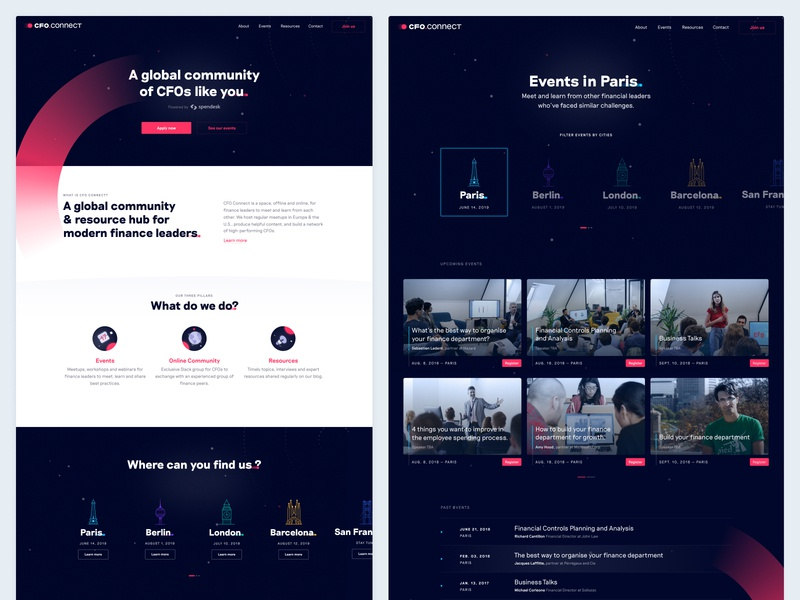 CFO Connect by Spendesk - New website 🛰 illustration cfo connect branding ui web spendesk brand design space website