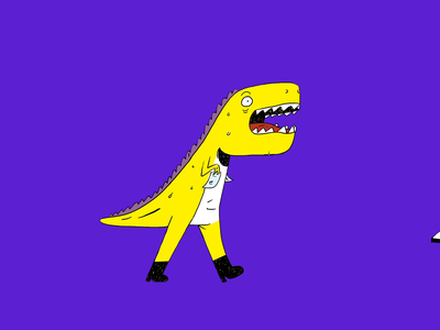 Spendesk - Don't be a Dinosaur 🦕 animation campaign brand fintech receipts cfo motion animations finance dinosaur