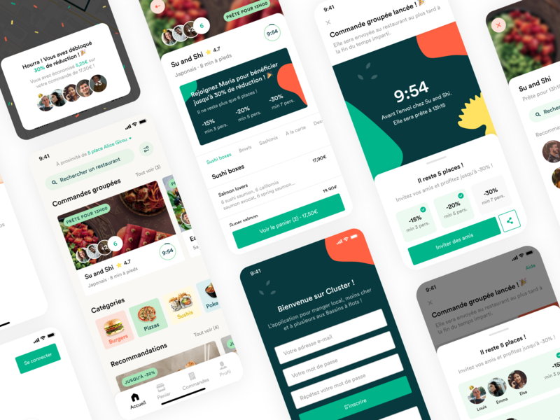 Cluster - Food app 🥙 cluster ecommerce ui mobile ios restaurant order food delivery