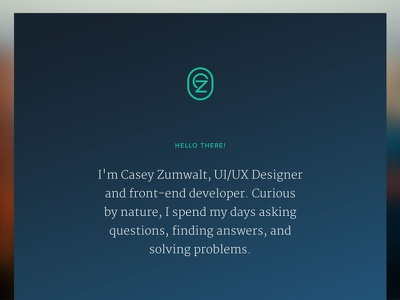 Personal Site Overhaul gradient merriweather avenir portfolio
