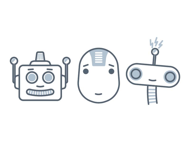 Robots illustration flat