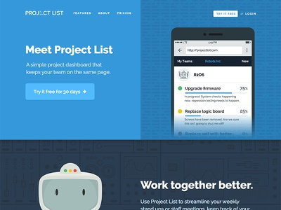 Project List marketing site