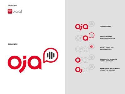 oja Logo relaunch