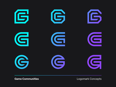 Game Communities Logo Concept design twitch communities game lettermark exploration lettering typography type symbol modern initial gc icon brand visual identity logo