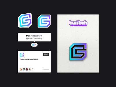 Game Communities Branding Concept icon design branding mark lettering type typography logotype twitch communities game gc modern symbol logo visual identity brand