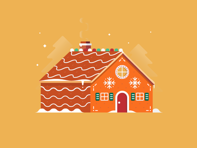 Gingerbread House vector candy cookies dessert sweet icing holiday christmas house gingerbread illustration