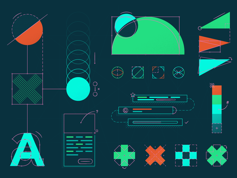 Building a Design System style guide pattern shape ui kit ui dsm components mokriya system product illustration design systems