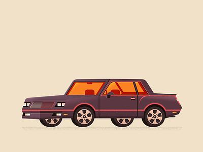 1987 Monte Carlo wheel cruise ride automotive vehicle retro texture vintage monte carlo car vector illustration