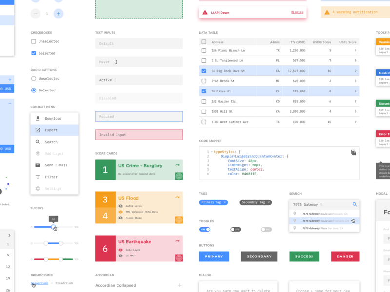 RMS Design System — Radius app design kit radius rms user experience user interface guidelines brand visual language style guide library ui components design system