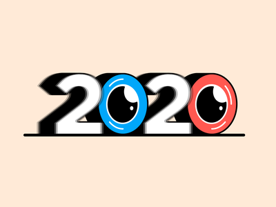 2020 Vision 👀 typography 2020 trend type experiment eye vision illustration 2020 new years