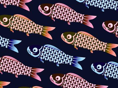 Koi Fish artwork icon pond water scale pattern texture fish koi fish koi illustration drawing