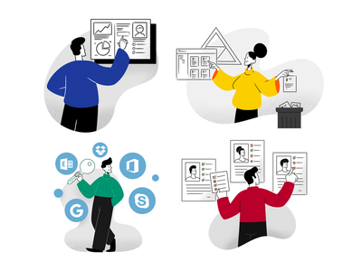 IT management illustrations