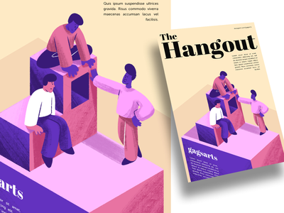 Hangout creative character daily illustration graphic designer design artwork artist art