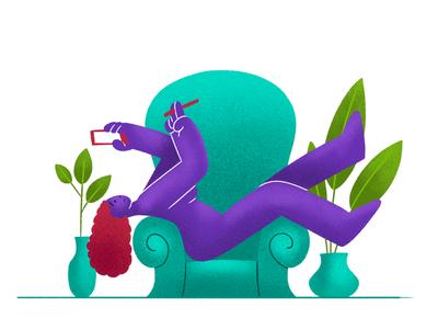 Texting creative character daily illustration graphic designer design artwork artist art