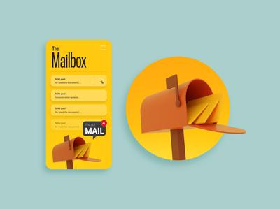 The Mailbox graphic design ux graphic ui daily design creative artwork art illustration