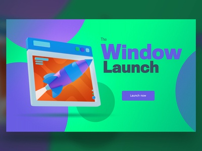 Window launch typography ui ux graphic design designer creative artwork design art illustration