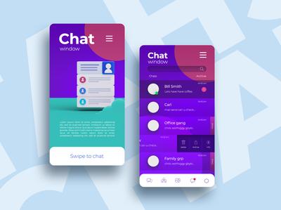 chat window UI typography ux graphic design ui designer creative artwork design art illustration