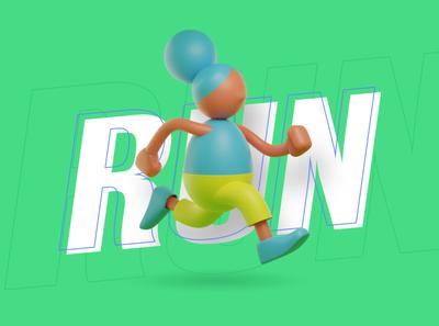 run baby run drawing vector ux ui character designer creative artwork design illustration