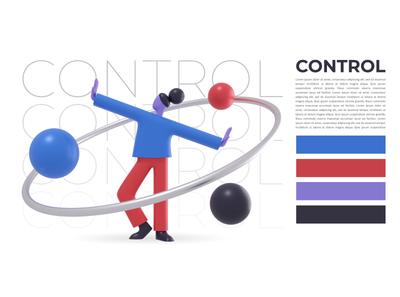 Control typography graphic design ux ui designer creative artwork design art illustration