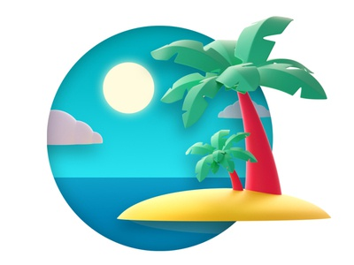 The beach drawing artist vector graphic design designer creative artwork design art illustration