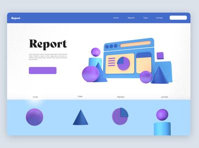 The Report design icon typography ux ui designer creative artwork design art illustration
