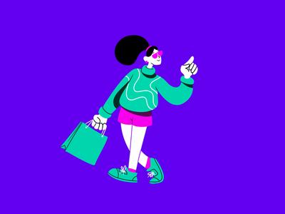The Shopping creative character daily illustration graphic designer design artwork artist art