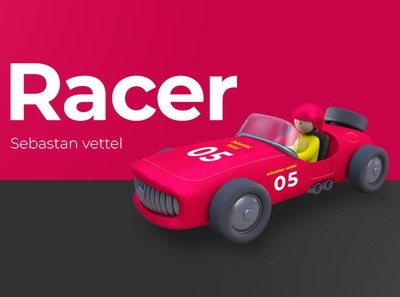 The Racer ux dribbble artist character designer creative artwork art design illustration