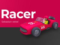 The Racer ux dribbble artist character designer creative artwork art design illustration