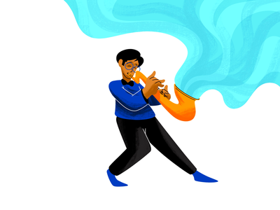 The SAX creative character daily illustration graphic designer design artwork artist art
