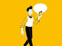 Walk & Chat creative character daily illustration graphic designer design artwork artist art