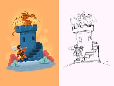 Dragon Hunter drawing dribbble designer artist character creative artwork design art illustration